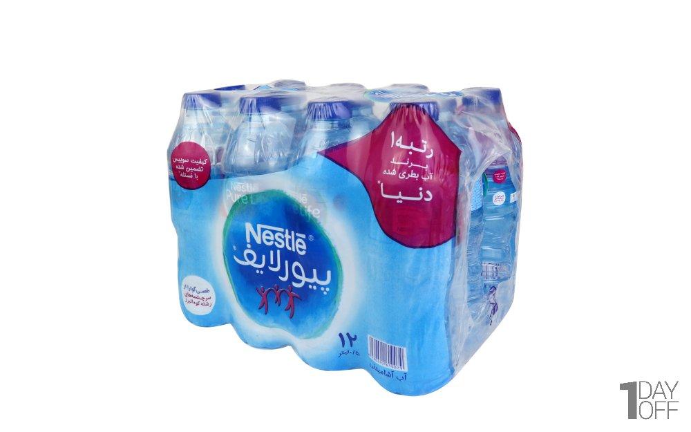 آب آشامیدنی پیورلایف نستله مقدار 500 میلیلیتر