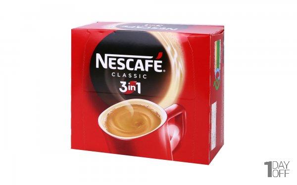 پودر مخلوط قهوه فوری 3in1 نسکافه بسته 20 عددی