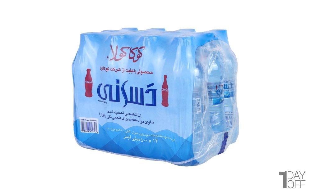 آب آشامیدنی دسانی کوکاکولا مقدار 500 میلیلیتر