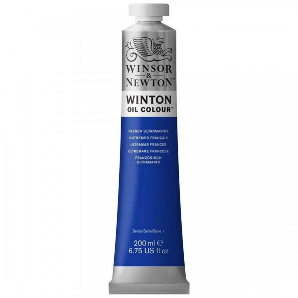 رنگ روغن وینزور (Winsor) سری Winton مقدار 200 میلی‌لیتر رنگ FRENCH ULTRAMARINE