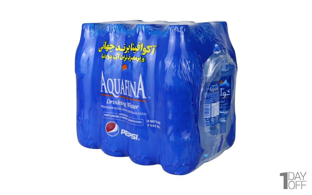 آب آشامیدنی آکوافینا پپسی مقدار 500 میلیلیتر