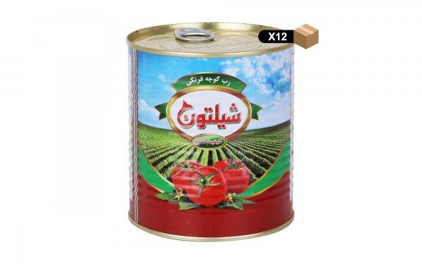 رب گوجهفرنگی شیلتون مقدار 800 گرم - بسته 12 عددی
