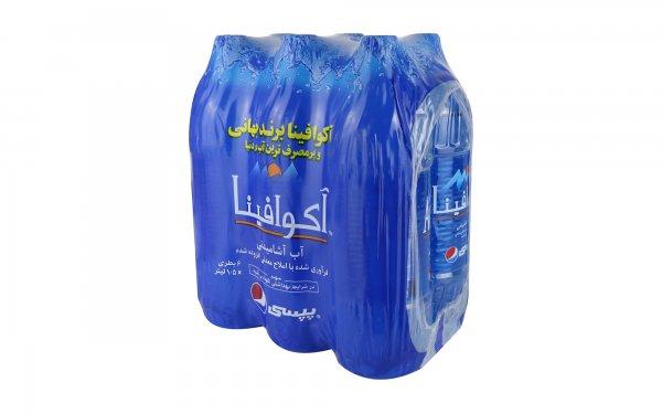 آب آشامیدنی آکوافینا پپسی مقدار 1.5 لیتر