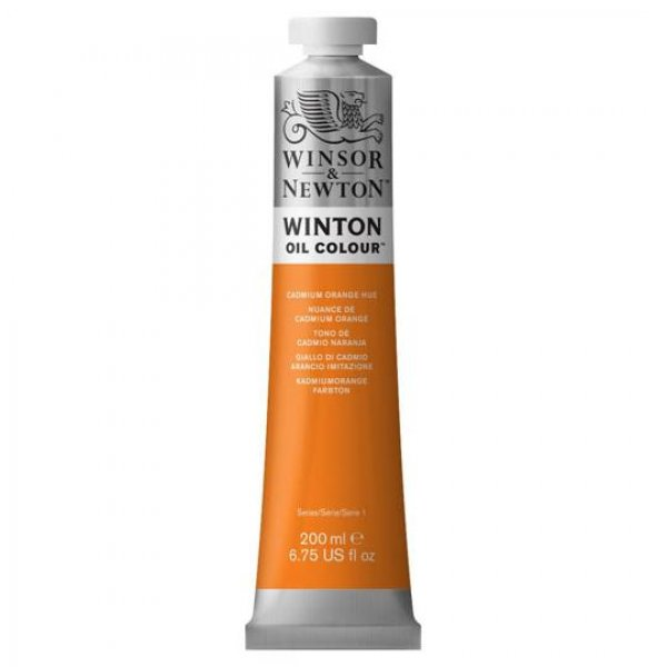 رنگ روغن وینزور (Winsor) سری Winton مقدار 200 میلی‌لیتر رنگ CADMIUM ORANGE HUE
