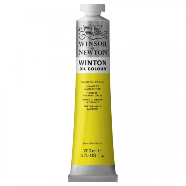 رنگ روغن وینزور (Winsor) سری Winton مقدار 200 میلی‌لیتر رنگ LEMON YELLOW HUE